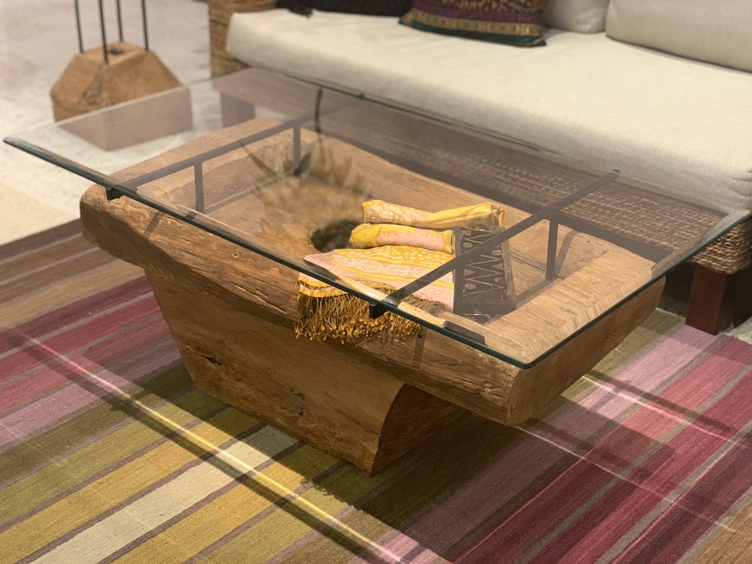 アジアン家具KAJA古木のローテーブル