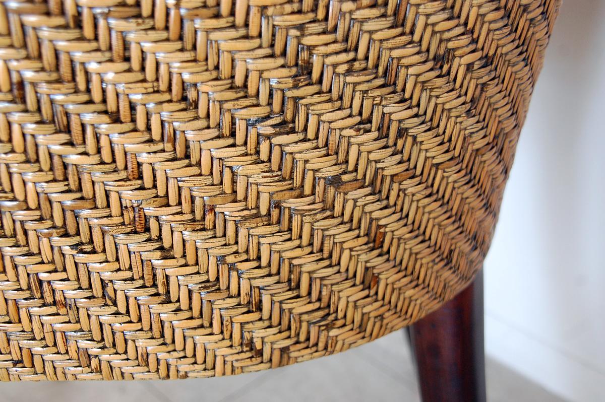 アジアン家具KAJAオリビアチェアの編み目