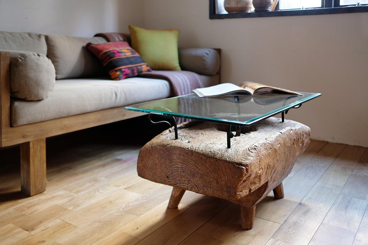 アジアン家具KAJA古木のテーブル1