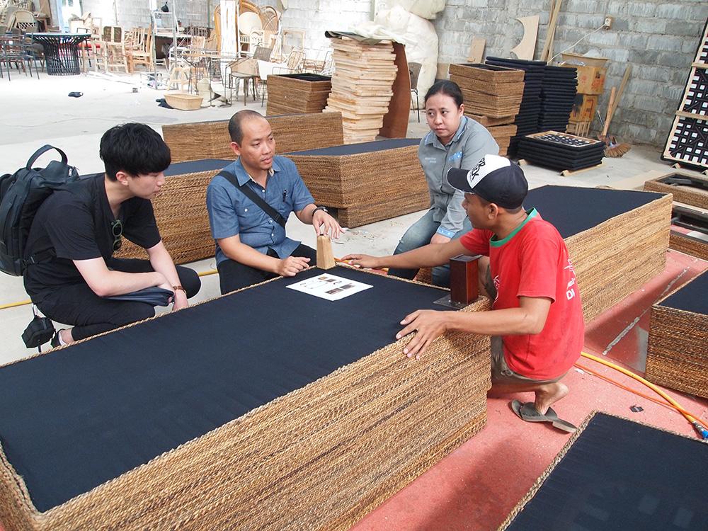 アジアン家具KAJAソファ工場での改善策対応
