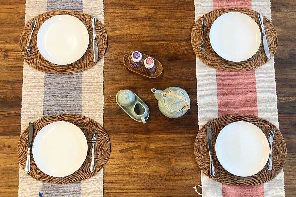 アジアン家具KAJAテーブルランナーのディスプレイ例4