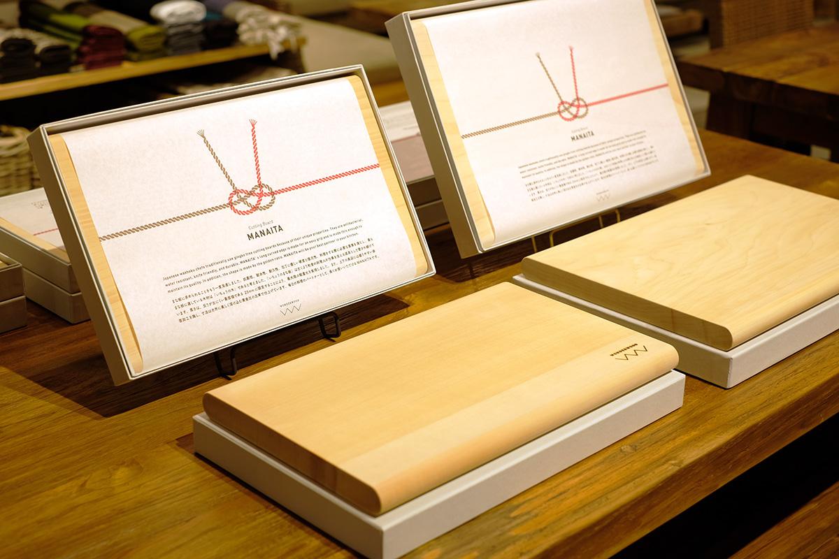 KAJAワンダーウッド展示会のまな板
