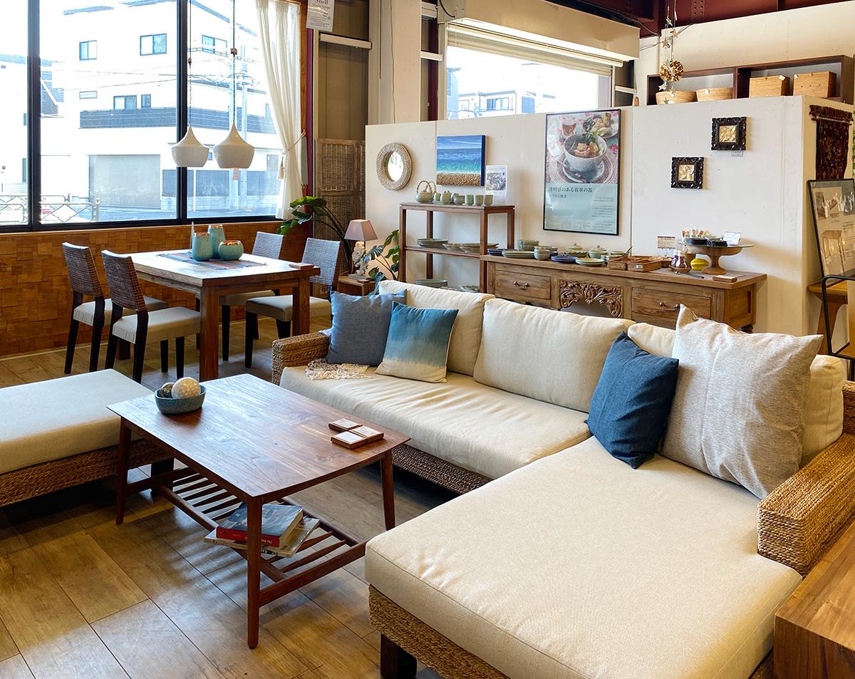 アジアン家具KAJA調布店のバナナリーフ家具