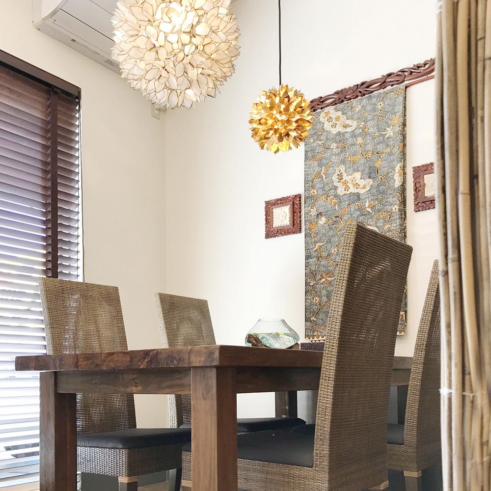アジアン家具KAJAバティックを使ったコーディネート例