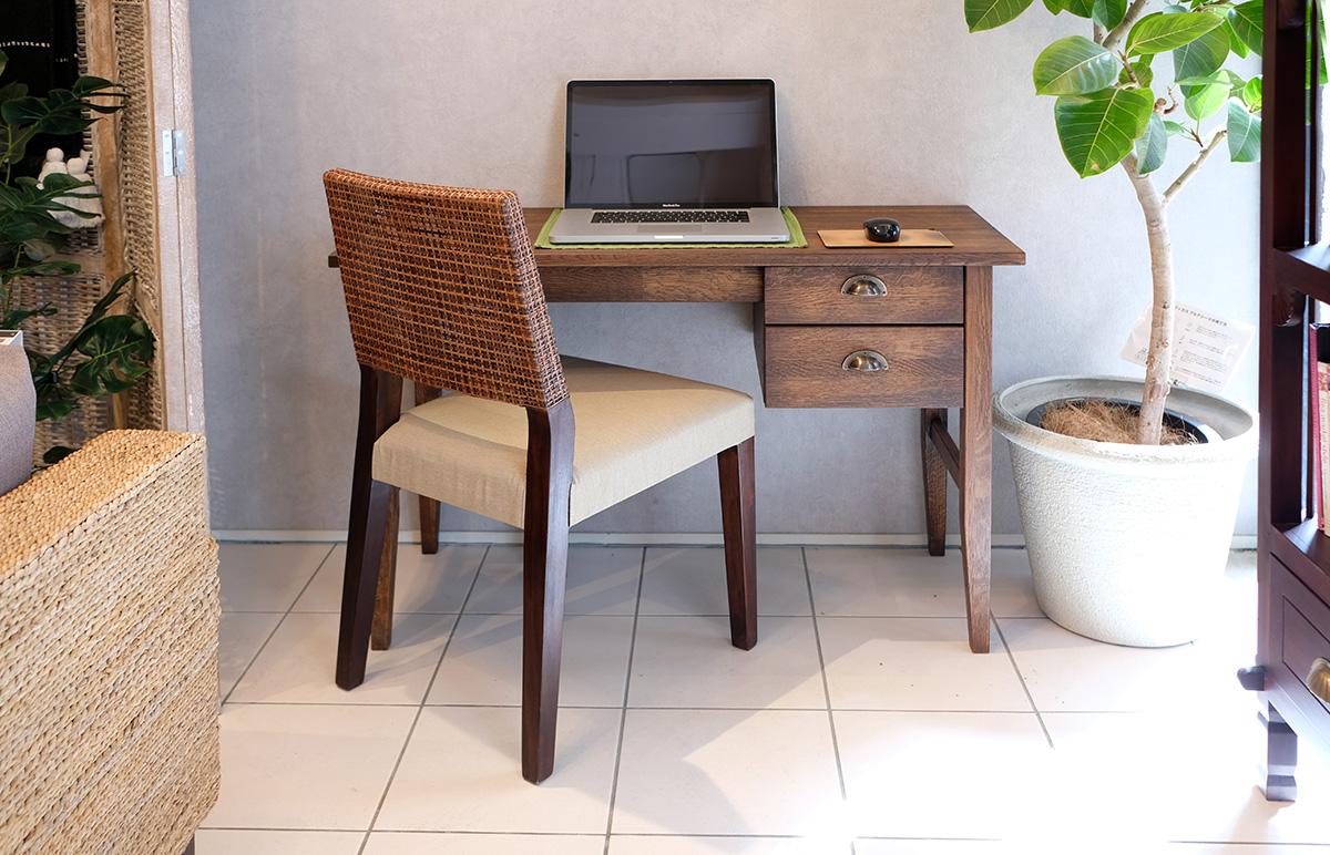 アジアン家具KAJA自宅でパソコン作業できるデスク