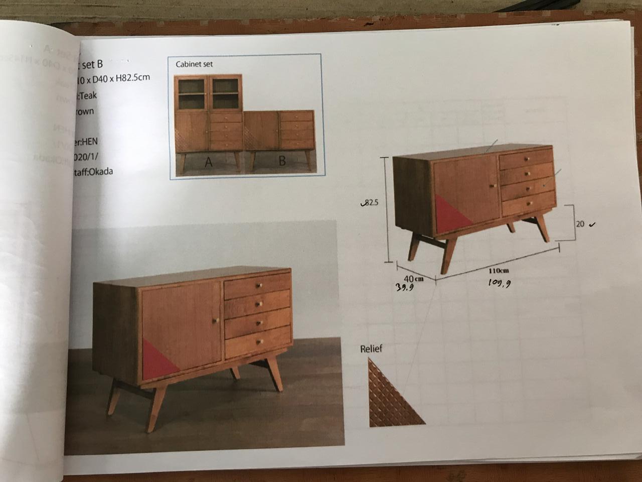 アジアン家具KAJAチェストの製作イメージ