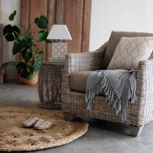 アジアン家具KAJAの一人掛けソファ