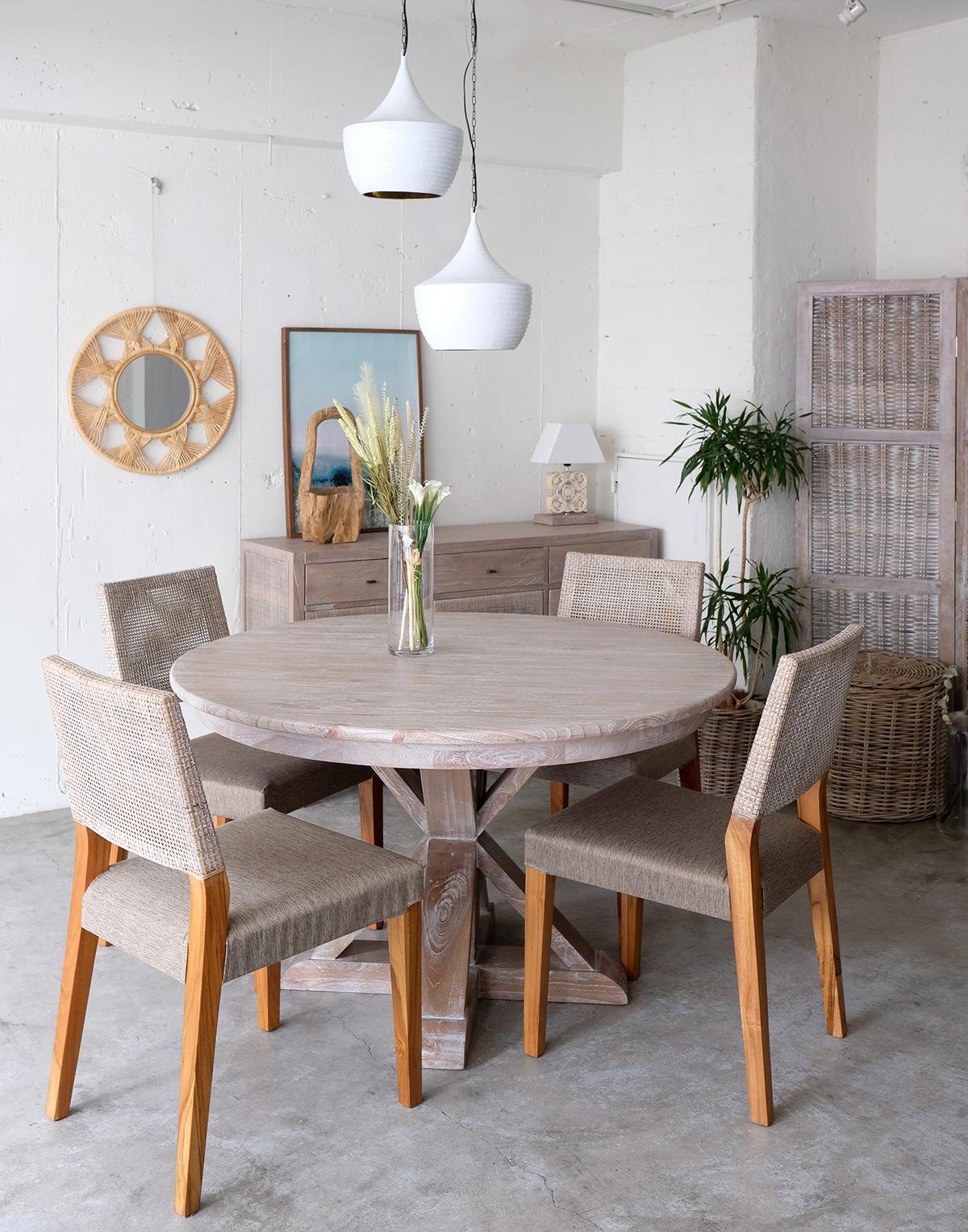 アジアン家具KAJAラメールダイニングテーブル