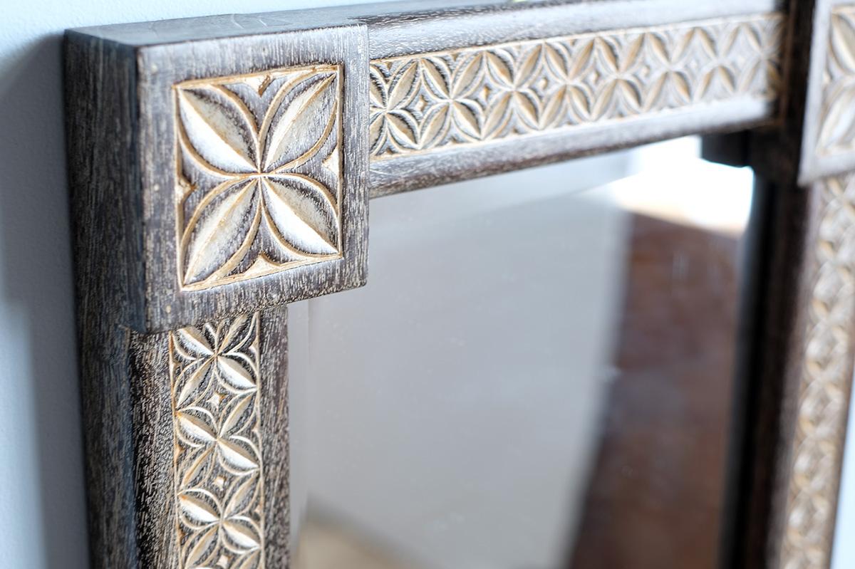 アジアン家具KAJAレリーフのミラー
