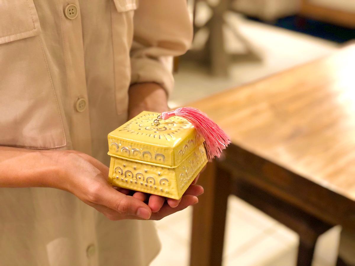 アジアン雑貨KAJAアルミのミニボックス