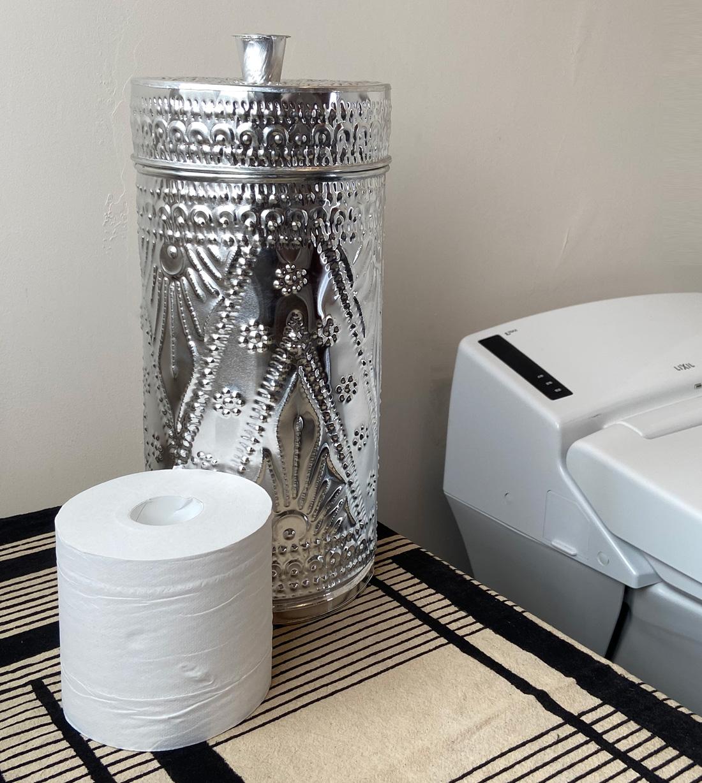 アジアン雑貨KAJAアルミの円柱ボックス