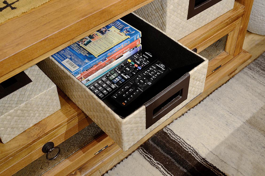 アジアン家具KAJAテレビボードにパンダン収納
